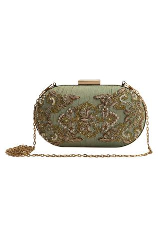 The Purple Sack Embroidered Clutch with Sling