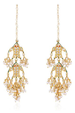 Kundan Tiered Chandeliers
