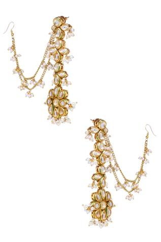 Kundan Tiered Earrings