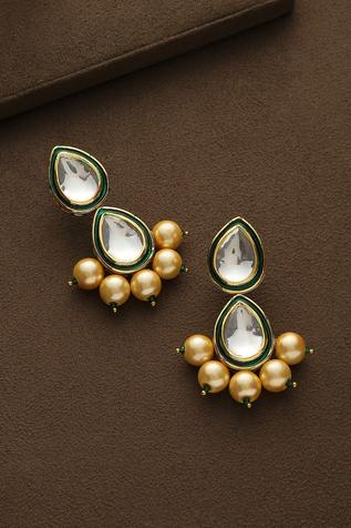 Kundan Tiered Teardrop Danglers
