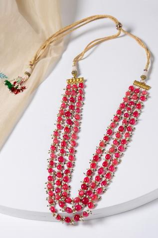 Paisley Pop Beaded Layered Necklace