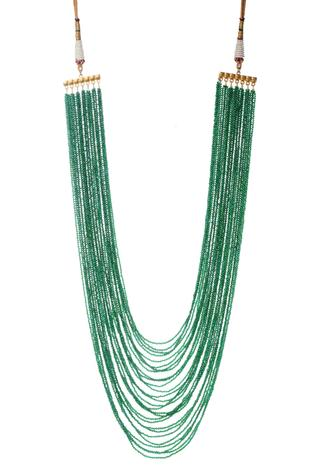 Handcrafted Layered Long Stone Necklace