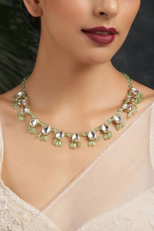 Kundan Teardrop Necklace
