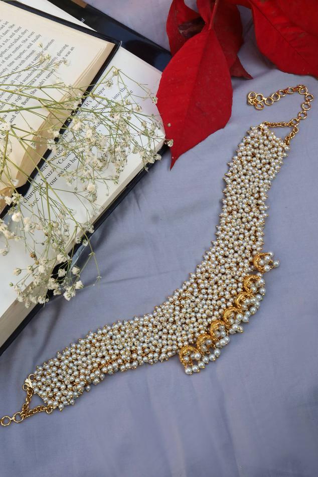 Handcrafted Vaidehi Jhumka Drop Bead Choker