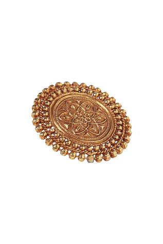 Paisley Pop Handcrafted Circular Temple Ring