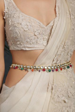 Kundan Polki Stone Drop Belt