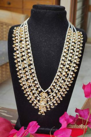 Layered Stone Long Necklace