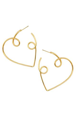 Knotted Heart Hoops