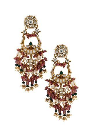 Floral Bead Drop Chandbalis