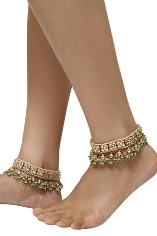Riana Jewellery Floral Stone Anklets