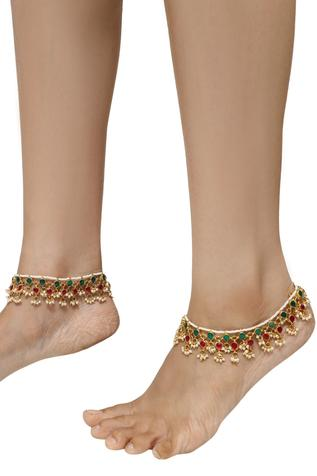Riana Jewellery Tiered Stone Anklets