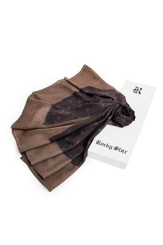 Silk Printed Monogram Scarf