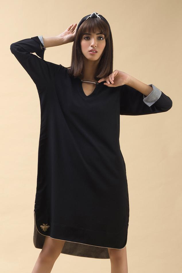 Women Indian Short Kurti  3//4 Sleeeves Tunic Top Kurta Shirt Dress MI 522 MAROON