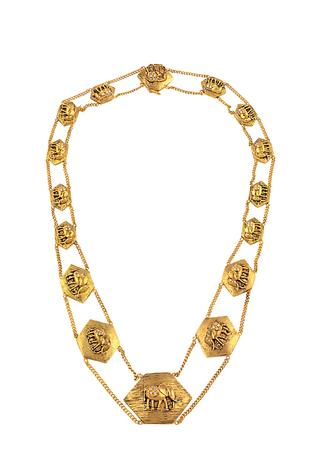Carved Chain Necklace