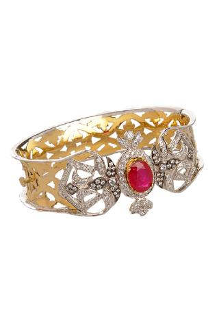 Cutwork Stone Bangle (Single Pc)