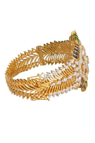Cutwork Crystal Bangle