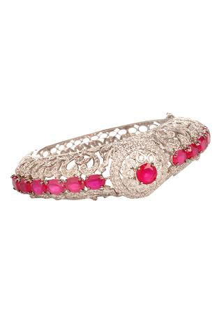 Cutwork Stone Bangle