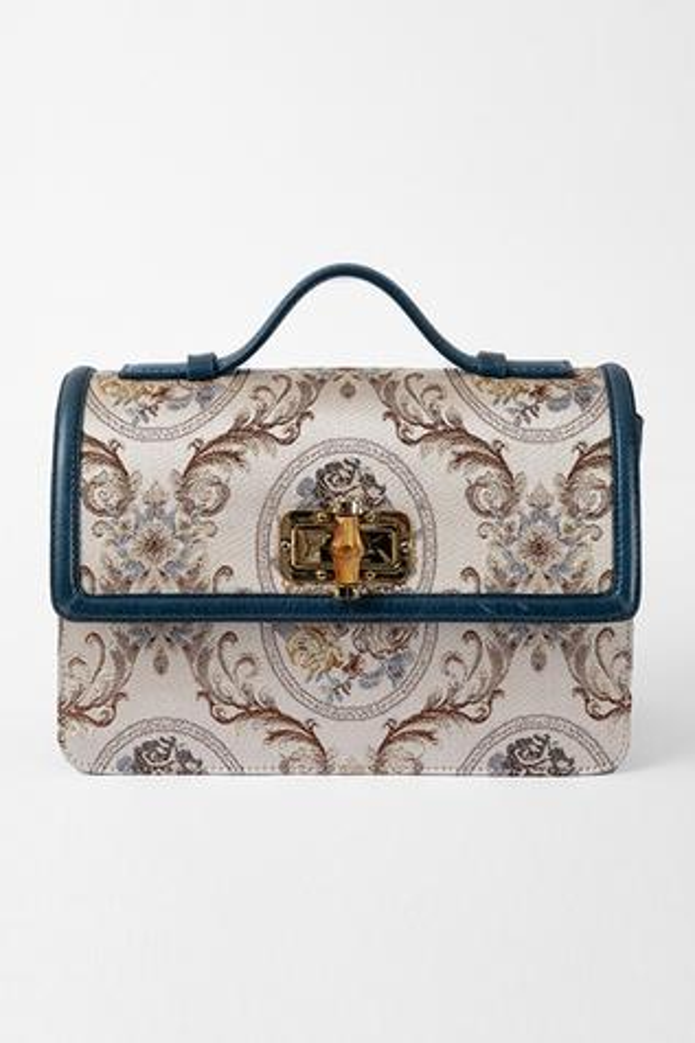 Floral Flap Sling Bag