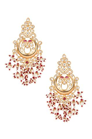 Polki Bead Drop Chandbalis