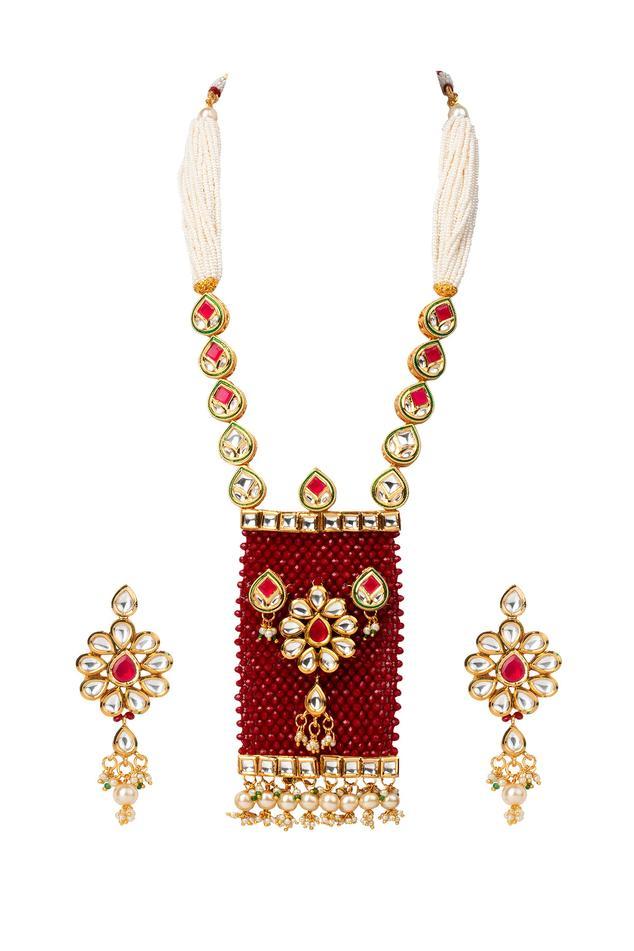 Rajwada Kundan Pendant Necklace Set