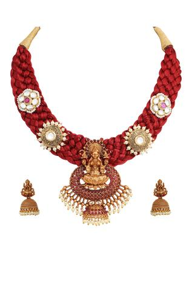 Tizora Handcrafted Temple Necklace Set