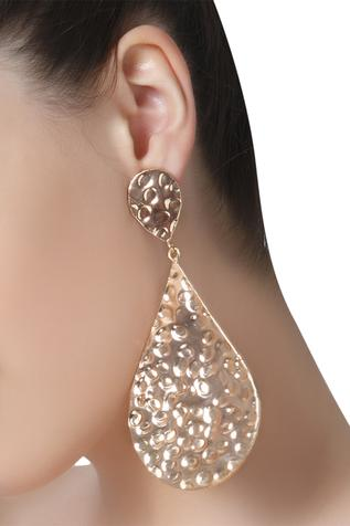 Beaten metal statement earrings