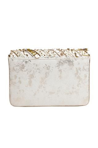 Aziza Bead Embellished Flap Clutch with Sling