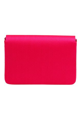 Spider Lily Chanderi Silk Flap Clutch with Sling