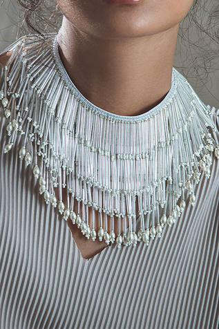 Amama Handcrafted Bead Tassel Necklace