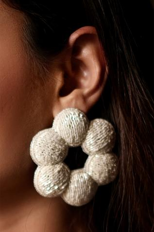 Amama Handcrafted Floral Statement Earrings