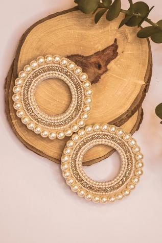 Amama Handcrafted Statement Bead Hoops