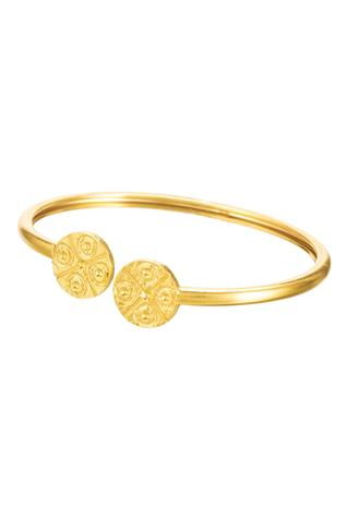 Carved Circular Motif Cuff (single pc only)