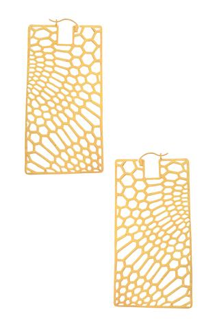 Geometric Cutwork Earrings