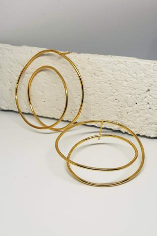 Handcrafted Double Wire Hoops