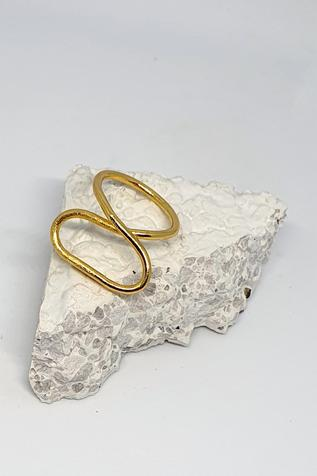 One Nought One One Handcrafted Wired Abstract Ring