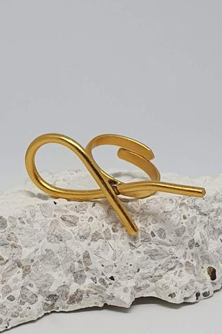 One Nought One One Handcrafted Abstract Wired Ring (Single Pc)