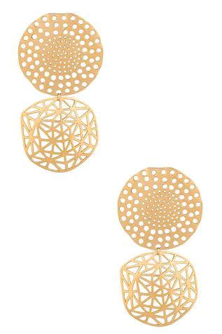 Handcrafted Tiered Geometric Danglers