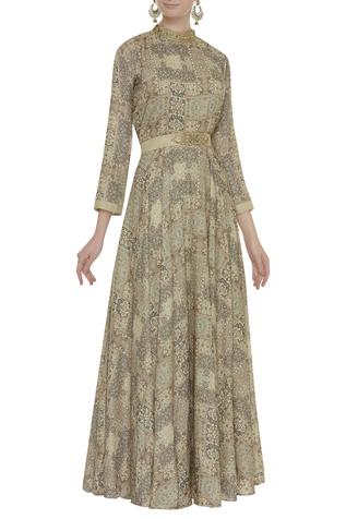 Zari embroidered gown