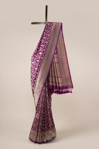 Handwoven Banarasi Silk Saree with Running Blouse Fabric