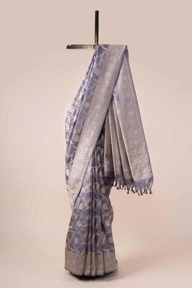 Handwoven Banarasi Silk Saree with Running Blouse Fabric