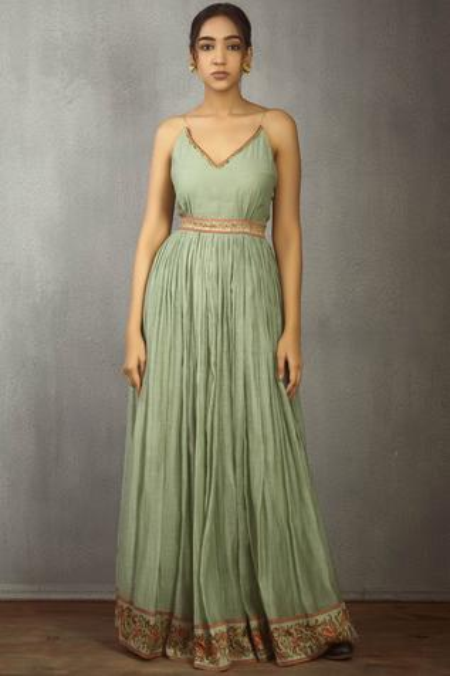 Chanderi Maxi Dress