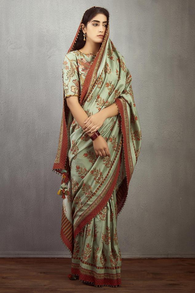 Chanderi Printed Saree