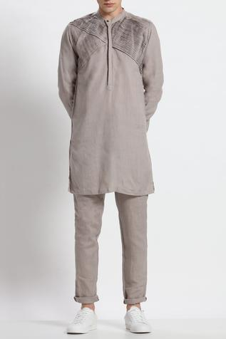 Linen Pleated Kurta