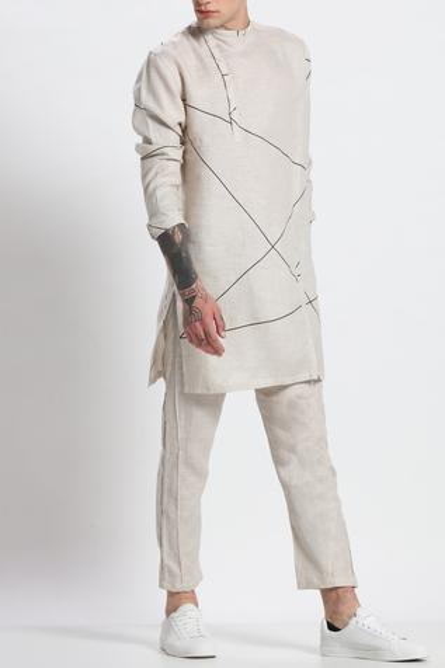 Linen Printed Kurta