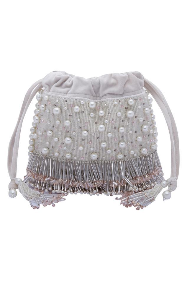 Pearl Adorned Sling Potli bag