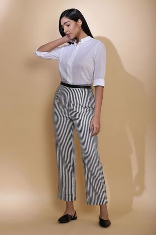 Handwoven Striped Pant