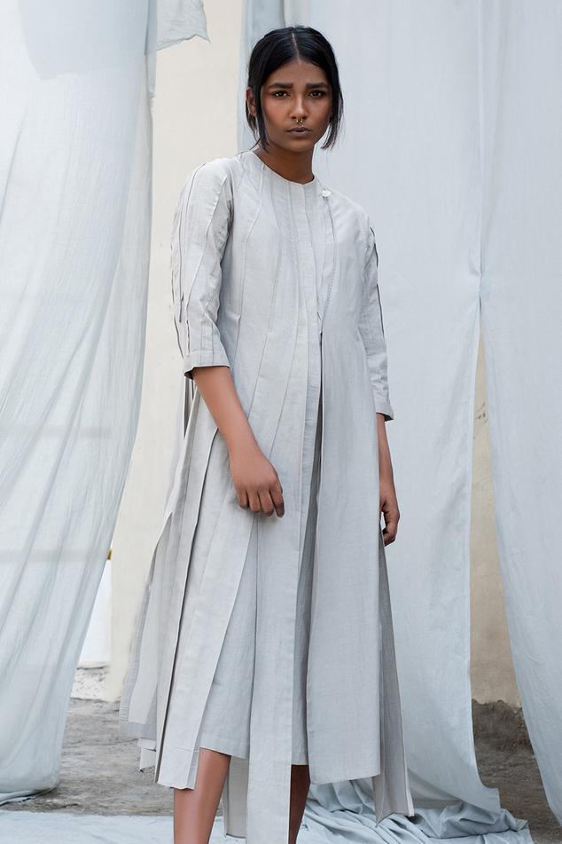 Cotton Silk Midi Dress