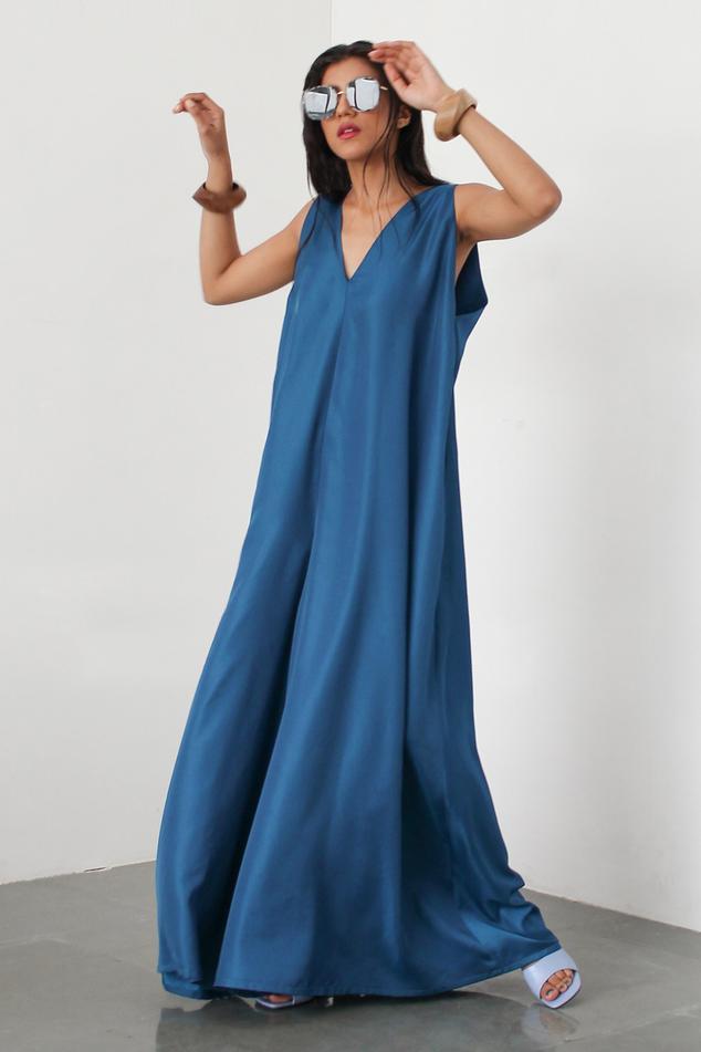 Silk Flared Jumpsuit