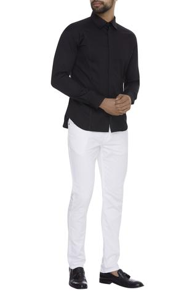 Plain Classic Collared Shirt