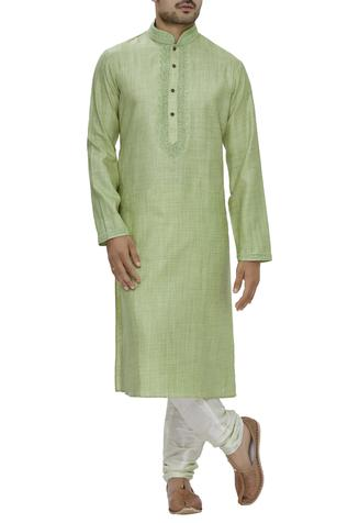 Silk & Cotton Kurta Set